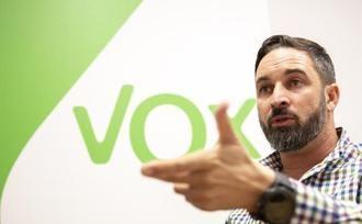 Santiago Abascal este viernes en un acto de VOX en Cuenca
