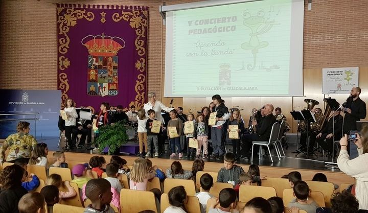 Cerca de un millar de escolares han participado en los V Conciertos Pedagógicos de Diputación de Guadalajara