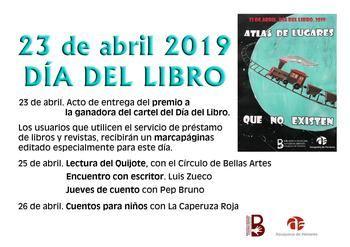 La visita del escritor Luis Zueco, cuentos para niños y adultos y la lectura del Quijote conforman el programa del Día del Libro en Azuqueca