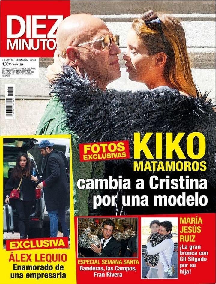 DIEZ MINUTOS Kiko Matamoros deja a Cristina por una espectacular modelo de 21 años