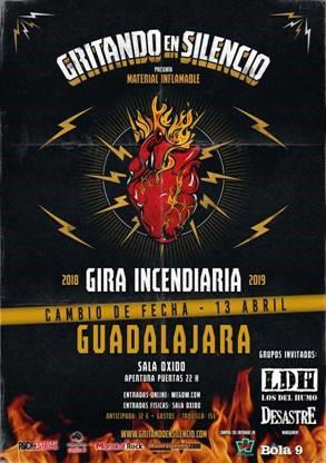 """MATERIAL INFLAMABLE"" en la Sala Óxido de Guadalajara"