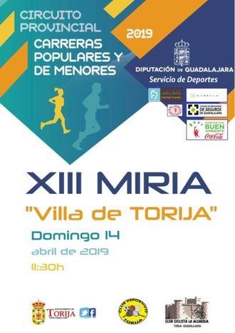El domingo 14, XIII Miria de Torija, primera prueba del Circuito de Carreras Populares de Diputación