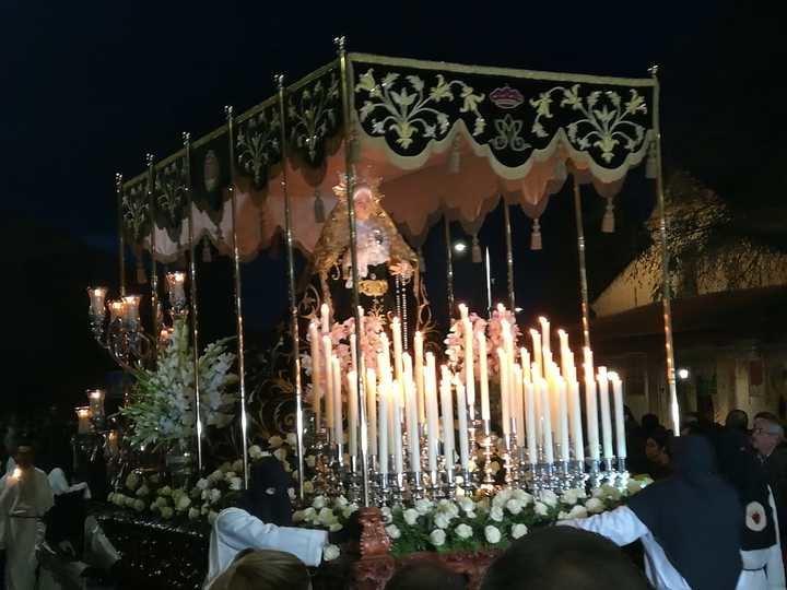 La procesión del Silencio y Santo Entierro este Viernes Santo en Guadalajara. Foto : Jacinto García Duro