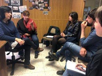 Teresa Arévalo de Unidas Podemos se reúne con Fademur