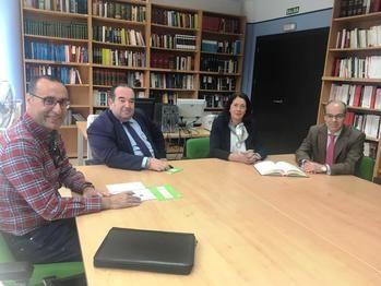 Antonio de Miguel de VOX se reúne con el Colegio de Abogados de Guadalajara