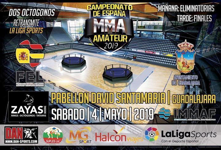 El Campeonato de España Senior de MMA Amateur, en el David Santamaría de Guadalajara, con más de 200 participantes