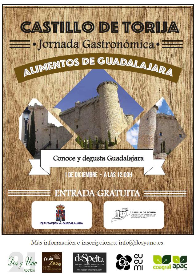 La Diputación de Guadalajara organiza este sábado una Jornada Gastronómica este sábado en el Castillo de Torija