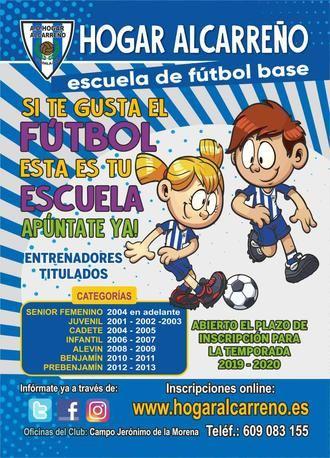 En marcha las escuelas de fútbol del Hogar Alcarreño 2019-2020
