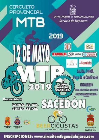 El domingo 12 se celebra en Sacedón la I Copa MTB Mar de Castilla