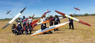 Victoria del guadalajareño Javier Mayor en el Campeonato Regional de Aeromodelismo F3j-b celebrado en Usanos