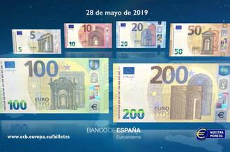 El próximo 28 de mayo entran en circulación los nuevos billetes de 100 y 200 euros