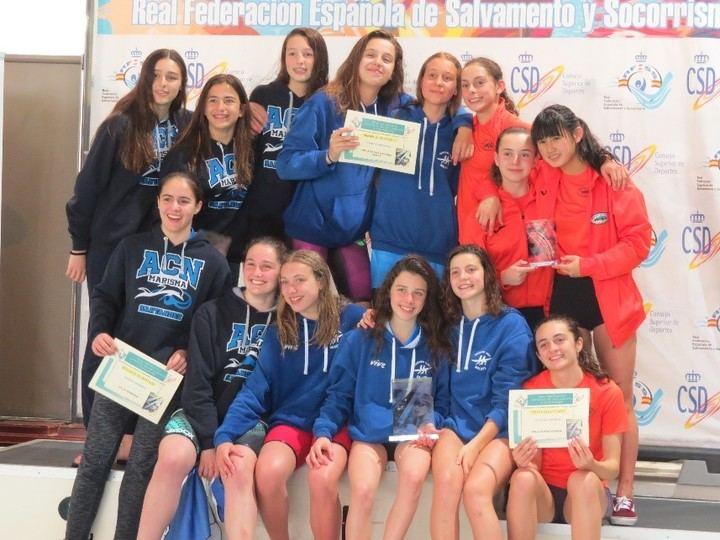 Socorristas de Guadalajara vuelven a ganar el Campeonato de España de Salvamento Infantil-Cadete de Primavera