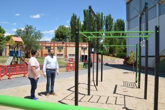 Ya se puede hacer uso de la zona de 'workout' del complejo San Miguel de Azuqueca