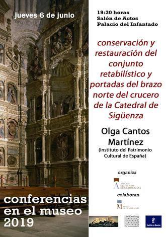 Una nueva conferencia tratará la restauración de los retablos y portadas del brazo norte de la Catedral de Sigüenza