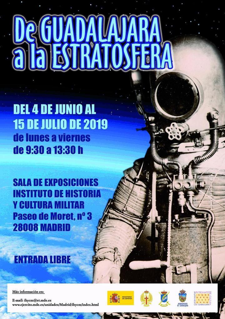 """Inauguración de la Exposición """"De Guadalajara a la estratosfera. Tributo a los aeronautas militares Emilio Herrera y Benito Molas"""""""