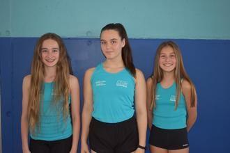 Tres alcarreñas escribirán la historia de la natación artística este verano