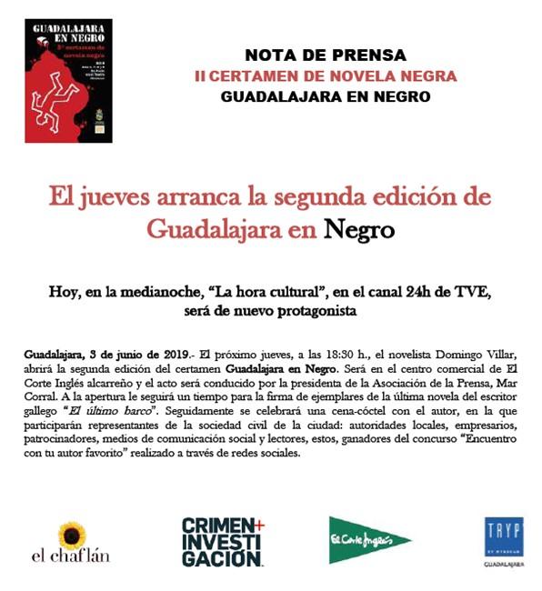 El jueves arranca la segunda edición de Guadalajara en Negro