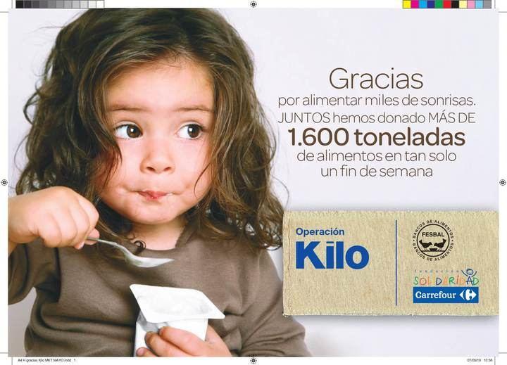 Carrefour y su Fundación donan 18.700 kg de alimentos a favor de las familias en situación de emergencia social de Castilla La-Mancha