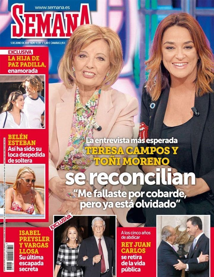 SEMANA La Campos se lo deja bien claro a Toñi Moreno antes de sellar la paz