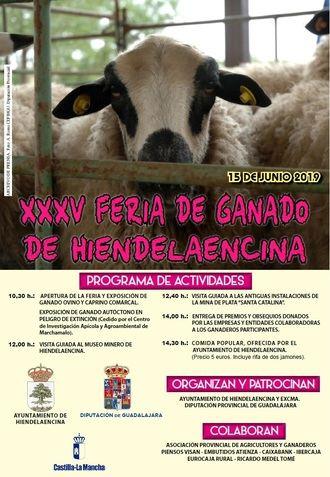 Hiendelaencina celebra el próximo sábado su XXXV Feria de Ganado