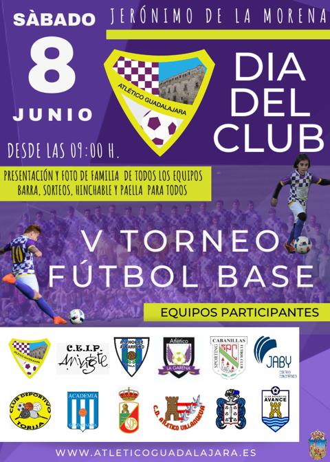 El Atlético Guadalajara celebra su V Torneo de Fútbol Base y su Día del Club