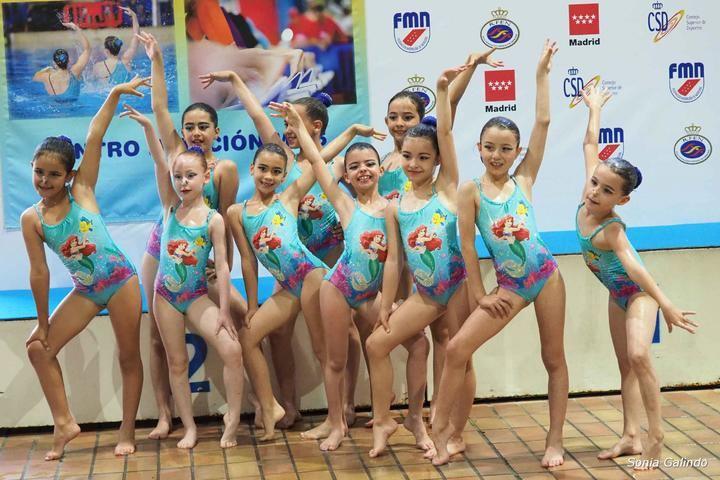 Las prealevines del Alcarreño de natación artística, subcampeonas en Madrid