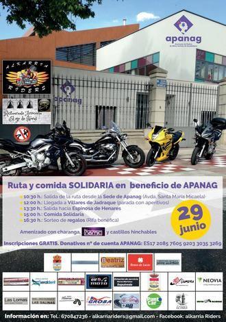 Ruta solidaria de la asociación motera AlkarriaRiders en Guadalajara