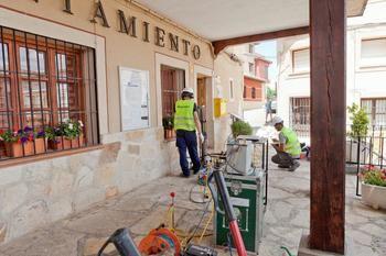 GEOSEC se ocupa de las obras de mantenimiento del Ayuntamiento de Aranzueque