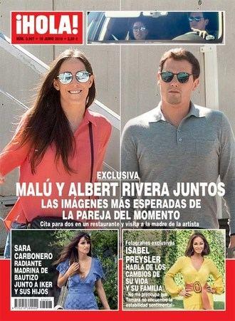¡HOLA! Albert Rivera ya conoce a la familia de Malú