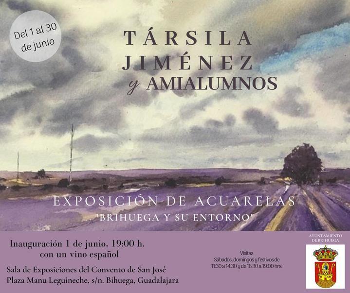 Exposición de exquisitas Acuarelas de Társila Jiménez en Brihuega