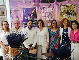La Gran Vía madrileña se perfumó de lavanda briocense con la presentación del programa del Festival y los actos de la Floración