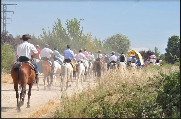 """Más de 110 caballistas participan en la Romería a caballo a la """"Virgen de la Granja"""" 2019 en Yunquera de Henares"""