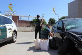 Detenido un hombre en Valdeaveruelo con 4 kilos de marihuana, 'pillado' tras tener un accidente de coche
