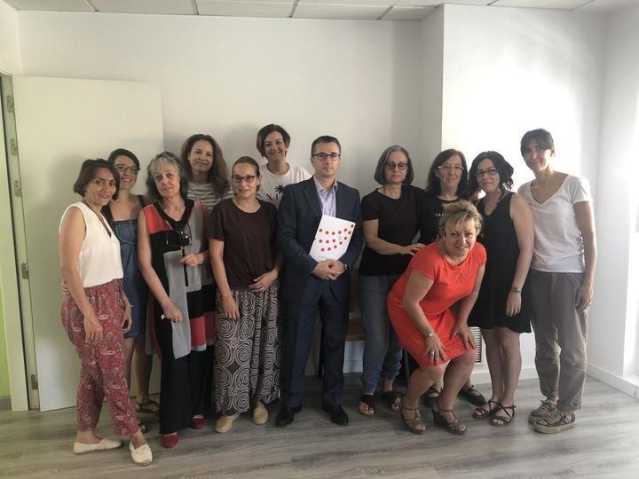 El secretario general de CEOE-Cepyme Guadalajara visita la Lanzadera de Empleo de Azuqueca