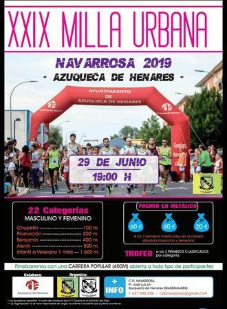 Este sábado, se celebra la XXIX Milla Urbana Navarrosa