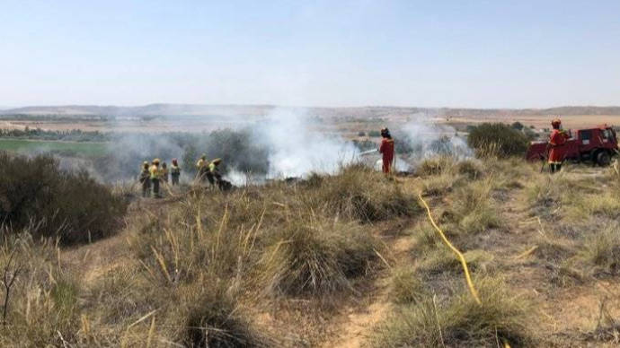 Los 289 efectivos de la UME se retiran del incendio de Toledo