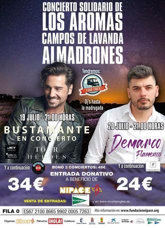 Autobuses gratuitos para asistir al Concierto de Los Aromas a favor de la Fundación Nipace