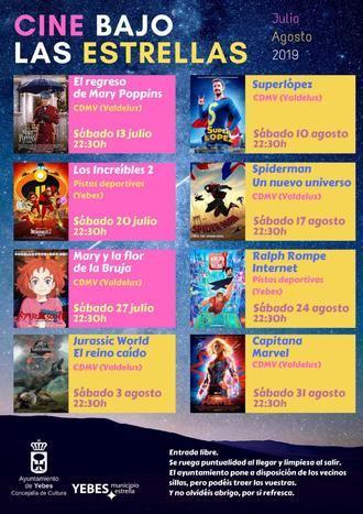 Las películas más familiares se proyectan en julio y agosto en el 'Cine bajo las Estrellas' de Yebes y Valdeluz