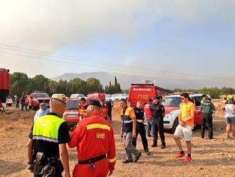 Activan medios de Guadalajara para intervenir en un incendio en un municipio de Alicante
