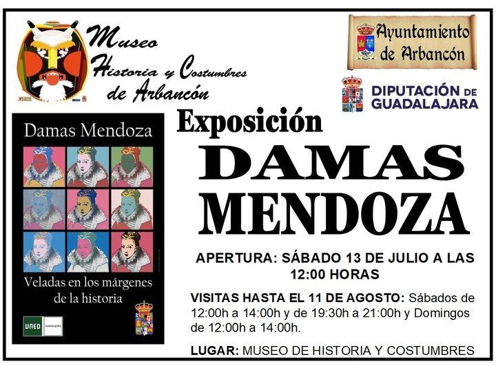 El sábado 13 se abre en Arbancón la Exposición 'Damas Mendoza'
