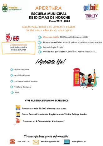 Horche abre la Escuela Municipal de Idiomas con clases de inglés
