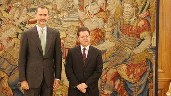 El rey Felipe VI se reunirá este jueves con García Page en el Palacio de la Zarzuela