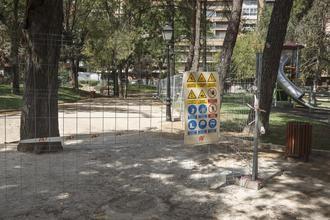 El parque de La Concordia seguirá cerrado hasta que se resuelvan las deficiencias que sufre el pavimento