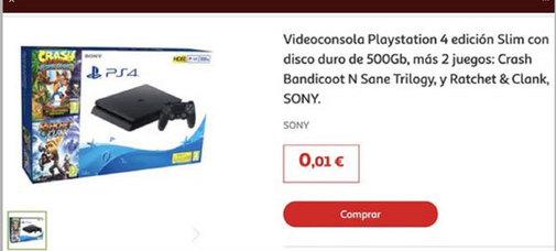 Lío en Alcampo Sevilla al anunciar la venta de la PlayStation4 a...¡1 céntimo de euro!