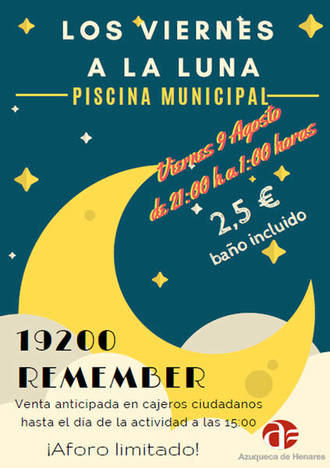 Última sesión de 'Viernes a la luna' en Azuqueca con '19200 Remember'