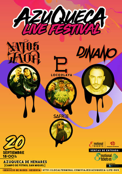 A la venta las entradas para el 'Azuqueca Live Festival' con Natos y Waor, DJ Nano, Locoplaya y Safree