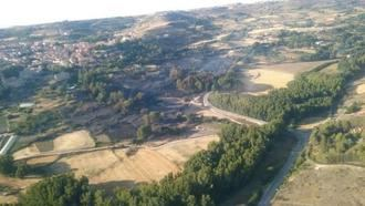 Se retiran los medios aéreos del incendio de Brihuega y vuelven al convento las monjas evacuadas