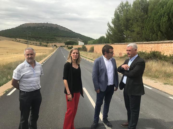 La Diputación mejora el firme de la carretera que une Sigüenza con Alcuneza y Alboreca