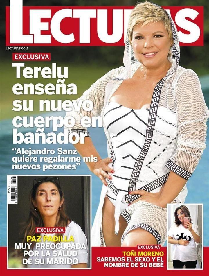 """LECTURAS Terelu Campos : """"Alejandro Sanz quiere regalarme mis nuevos pezones"""","""