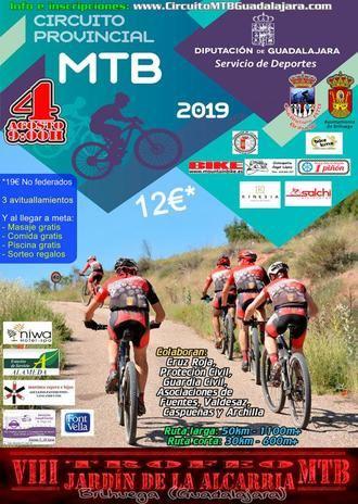 El domingo 4 se celebra en Brihuega el VIII Trofeo MTB Jardín de la Alcarria